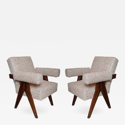 A Pair of Jeanneret Armchairs Re edition India 2016