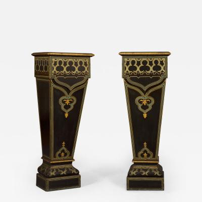 A Pair of Louis Philippe Tapering Pedestals In The Exotic Taste