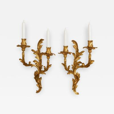 A Pair of Louis XV Style Twin Light Appliques