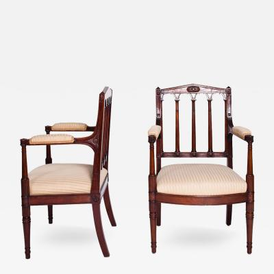 A Pair of Louis XVI Fauteuils SIgned by Jacob during the Napoleon I Reign