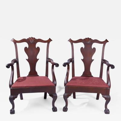 A Pair of Maryland Armchairs