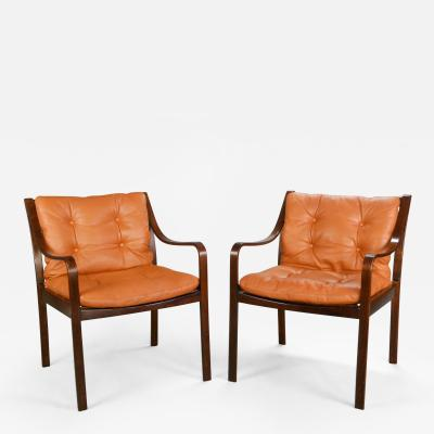 A Pair of Mid Century Beechwood Chairs