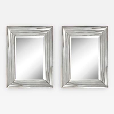 A Pair of Mid Century Rectangular Mirrors