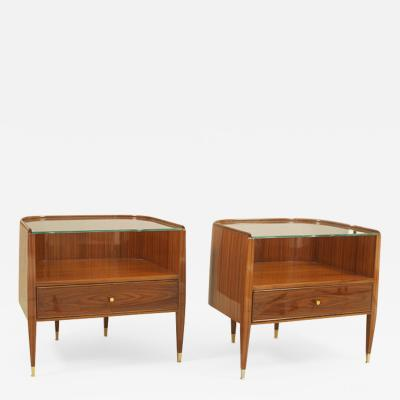 A Pair of Modernist Bedside Tables by Iliad Design