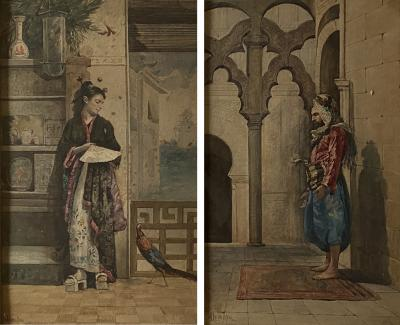 A Pair of Orientalist Watercolors