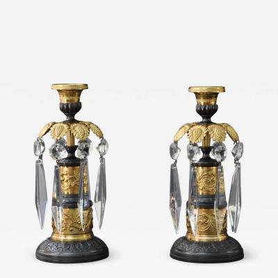 A Pair of Regency Candlesticks