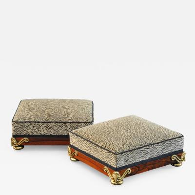 A Pair of Regency Footstools
