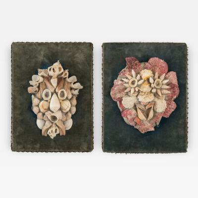 A Pair of Shell Masks in the Manner of Arcimboldo