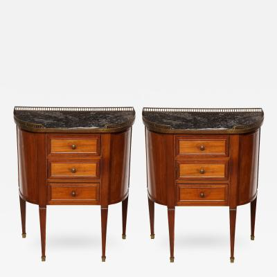A Pair of Sheraton Style Bed Side Tables