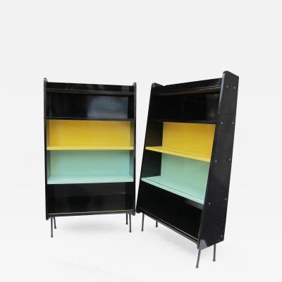 A Pair of Signed Lacquered Shelves Sweden 1960