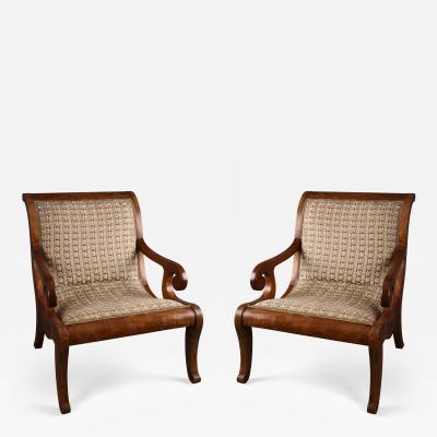 A Pair of Spanish Colonial Neoclassical Armchairs Vto De Nva Espana ca 1830