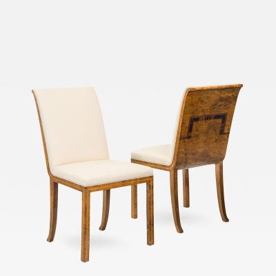 A Pair of Swedish Grace Period Birch and Rosewood Chairs