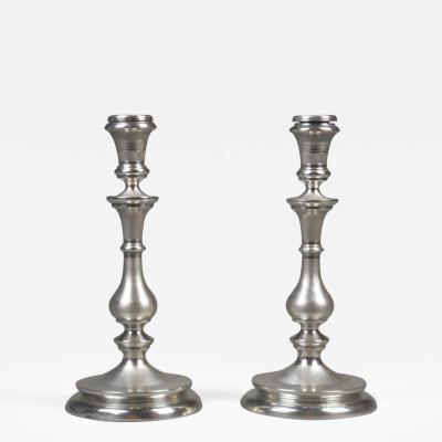 A Pair of Swedish Silver Candlesticks