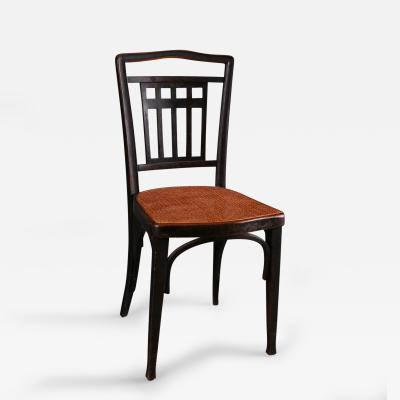 A Pair of Wiener Werkstatte Caned Side Chairs Austrian ca 1916