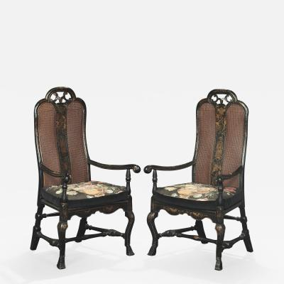 A Pair of William Mary Armchairs