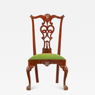 A Pennsylvania or Maryland walnut side chair