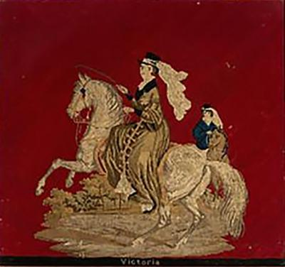 A Petit Point Honoring Queen Victoria