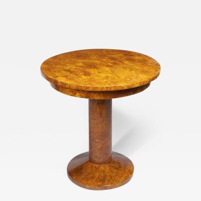 A Petite Art Deco Pedestal Table