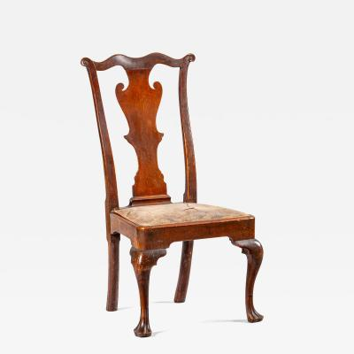 A Philadelphia side chair with original leather seat