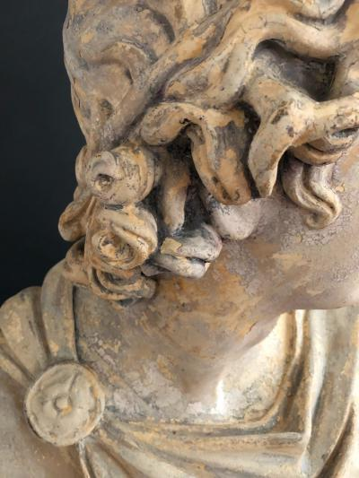 A Plaster Bust of Apollo Belvedere