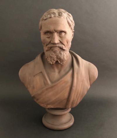 A Plaster Bust of Michelangelo