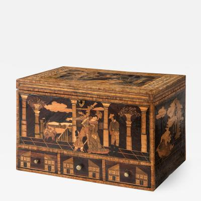 A Rare Exceptional French Straw Work Box