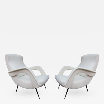 A Rare Pair of Armchairs Italy 1960
