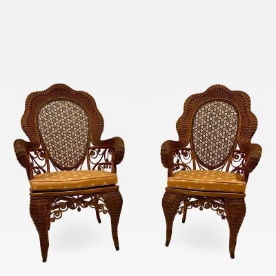 A Rare Pair of Victorian Arm Chairs