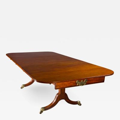 A Rare Regency Morgan and Sanders Mahogany Dining Table