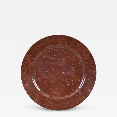 A Rare Swedish Bredva Porphyry Plate