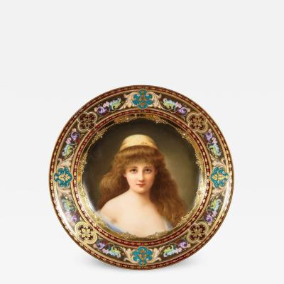 A Rare and Exceptional Royal Vienna Porcelain Plate of Nadia by Wagner