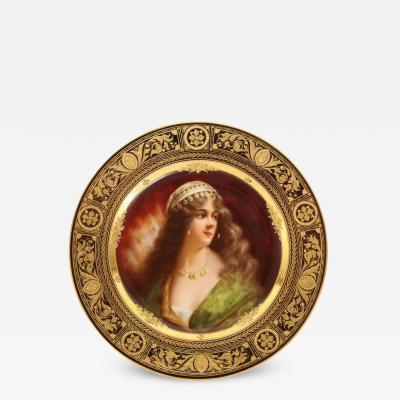 A Rare and Exceptional Royal Vienna Porcelain Plate of Yessida by Wagner