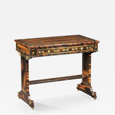 A Regency Calamander Library Table
