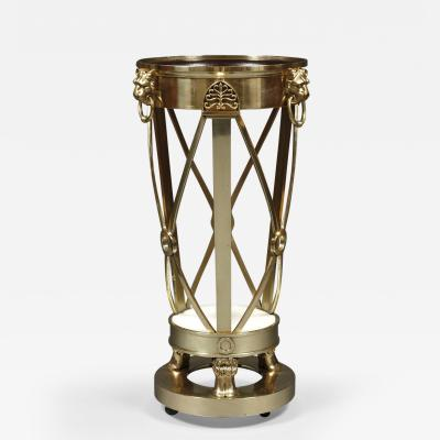A Regency Gilt Brass Jardiniere Stand Closely Based on A Design By Thomas Hope