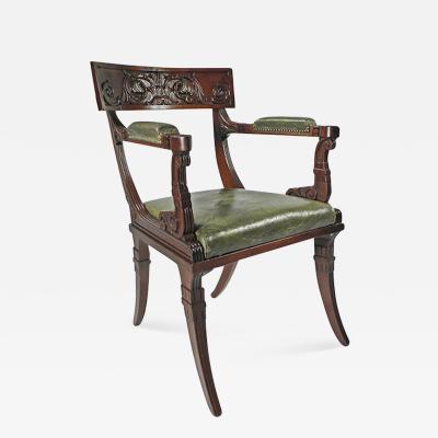 A Regency Mahogany Armchair