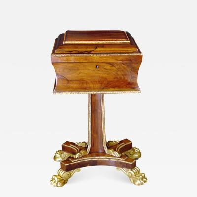 A Regency Rosewood Tea Poy