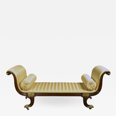 A Regency Simulated Rosewood Chaise Longue