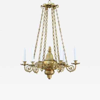 A Regency Six Light Chandelier