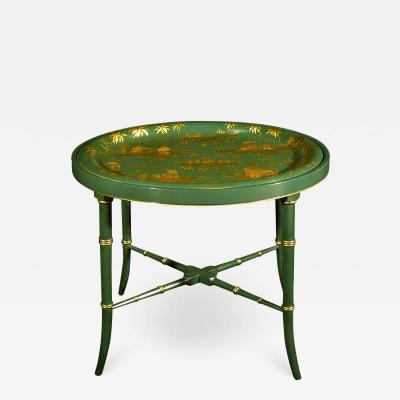 A Regency Tole Tray on Stand