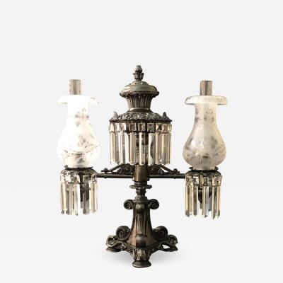 A Regency Two Light Argand