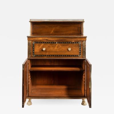 A Regency brass inlaid rosewood secretaire 1810