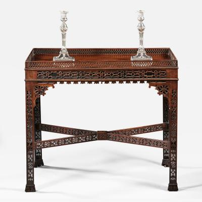 A Remarkable 18th Century English Chippendale Period Fretwork Tea Table