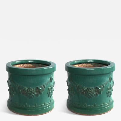 A Robust Pair of Malaysian Terracotta Planters