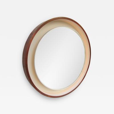 A Rosewood Mirror Scandinavian Manufacture 1970