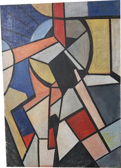 A Russian constructivist oil on canvas Russian 40