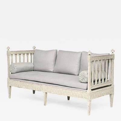 A SWEDISH LATE GUSTAVIAN PAINTED BENCH CIRCA 1790 1800