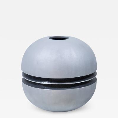 A Sculptural Modernist Round Vase by Artist Lorenzo Burchiellaro