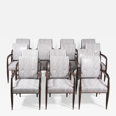 A Set of 14 Elegant and Iconic French 40 s Inspired Armchairs