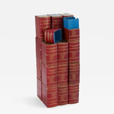 A Set of 22 Red Book Boxes