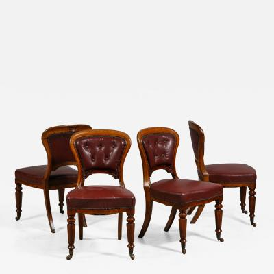 A Set of 4 Oak William IV Dining Chairs